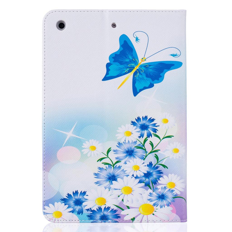 iPad 7 6 5 4 3 2 Butterfly PU Leather Wallet Cover iPad 7 6 5 4 3 2 1 Air 3 2 1 Mini 4 3 2 Folio Sleeve - Casebuddy