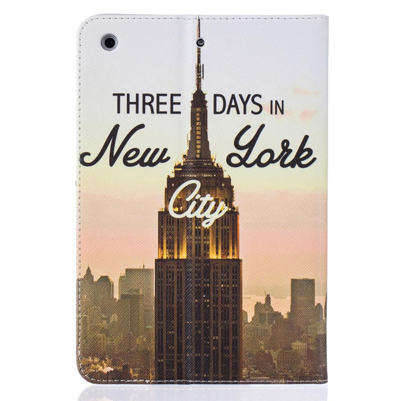 Eiffel Tower Print PU Leather Case Apple iPad 7 6 5 4 3 2 Air 3 2 1 Mini 5 4 3 2 Stand Wallet Cover - Casebuddy