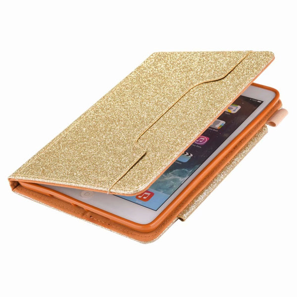 Glitter Leather Case iPad Mini 5 2019 TPU Protective Inner Cover iPad Mini 1 2 3 4 Wallet Card Slots Multi-angle Stand - Casebuddy