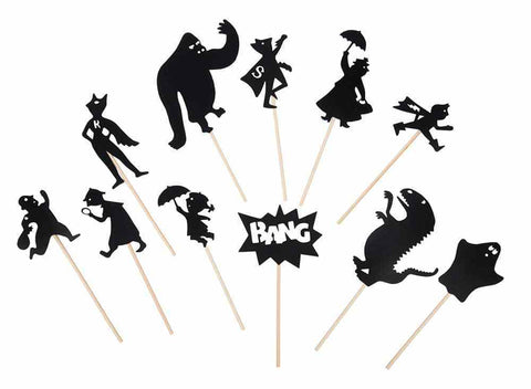 Moulin Roty - Night Time Shadow Puppet Set - Heroes