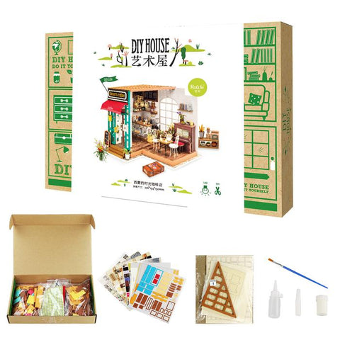 DIY Mini House Kit - Simon's Coffee Shop