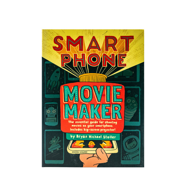 Front of box with projector artwork and Smart Phone Movie Maker text.