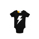 Lightning Bolt - Black - Baby Romper