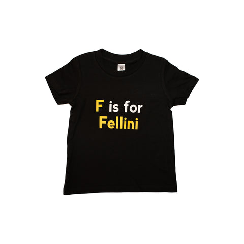 ACMI x Cinephile - F Is For Fellini - Kids T-Shirt