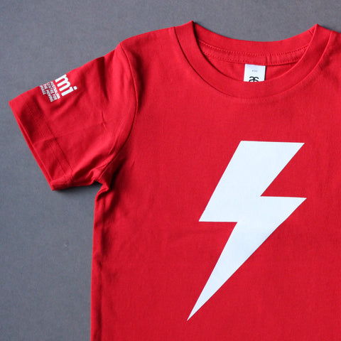 Lightning Bolt - Red - Kids T-Shirt