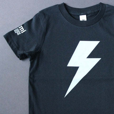 Lightning Bolt - Navy - Kids T-Shirt