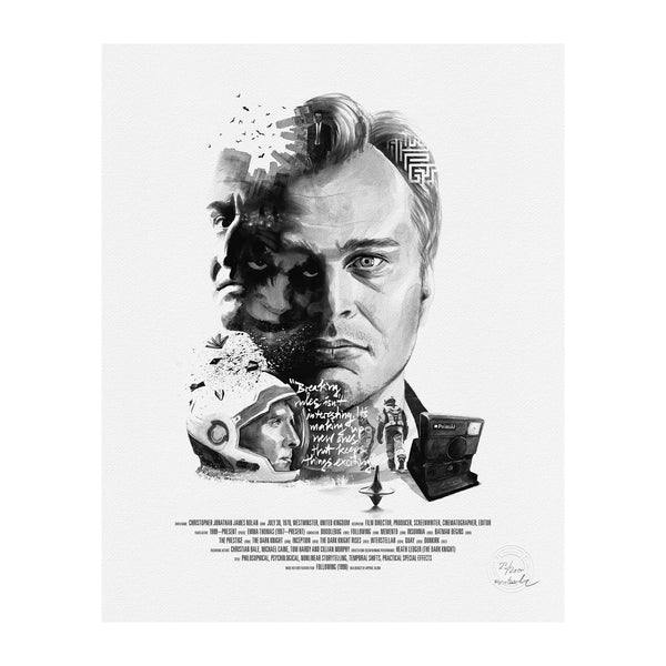 Stellavie - Christopher Nolan - Portrait Print