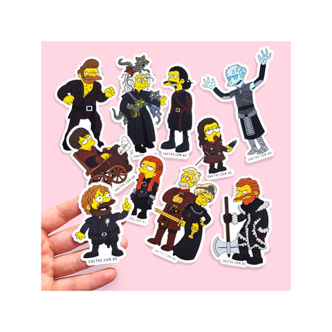 Cactvs - Game of Springfield Sticker Pack