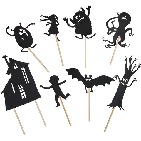 Moulin Roty - Night Time Shadow Puppet Set - Scary