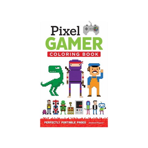 Pixel Gamer Colouring Book - Softcover