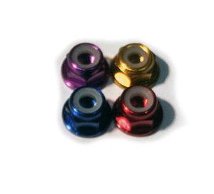 6061 low Profile Aluminum M5 nylocs (x4)