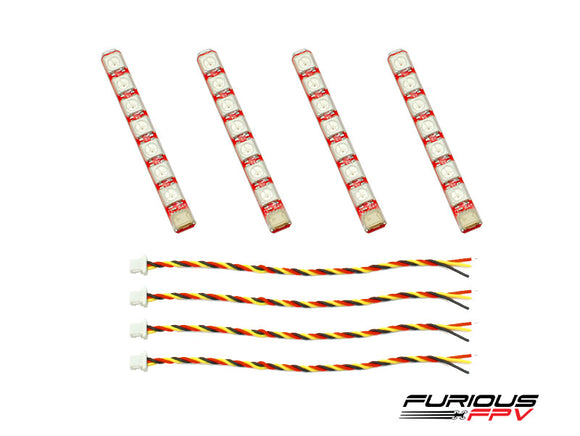 FuriousFPV Single Row LED Strip (4 Strips)