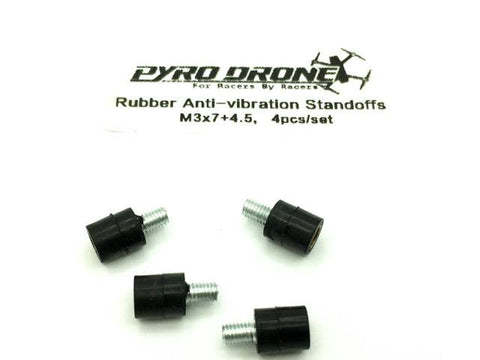 PyroDrone M3x7+4.5 Anti Vibration Standoffs 4pcs. per bag