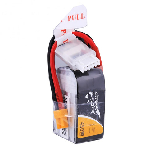 Tattu 450mAh 14.8V 75C 4S1P Lipo Battery Pack with XT30 plug