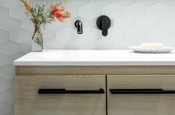 Elongated Hex Pure Silk Matte Bathroom Wall