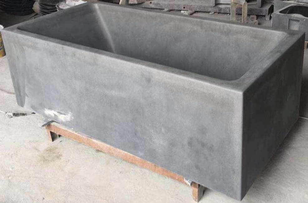 SOLID LAVA GREY Basalt Honed, Rectangle - Bathtub Series