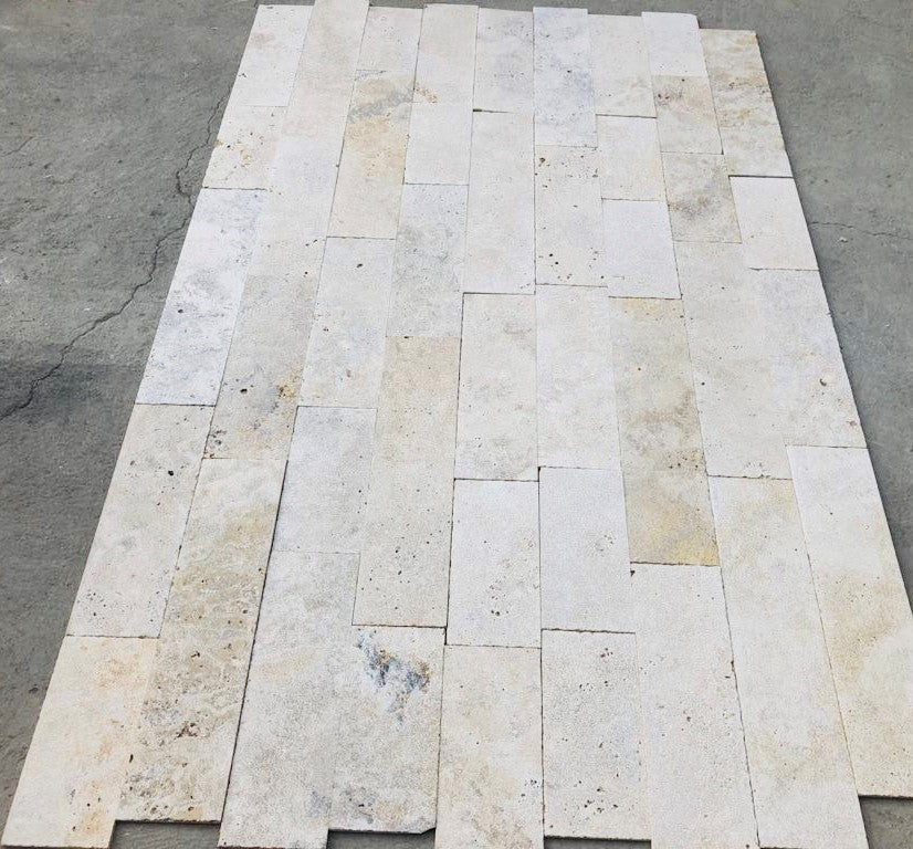 ALBERTINO LIGHT Travertine sandblasted/brushed/filled - Tile Series