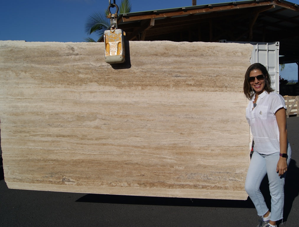 MACHU PICCHU LIGHT Travertine - Slab Series