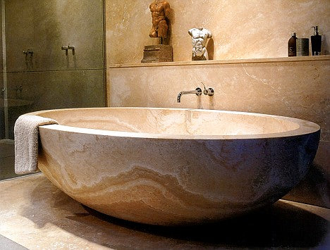 ANTICO CLASSICO Travertine Honed/Filled, Long-Round, eased edge - Bathtub Series