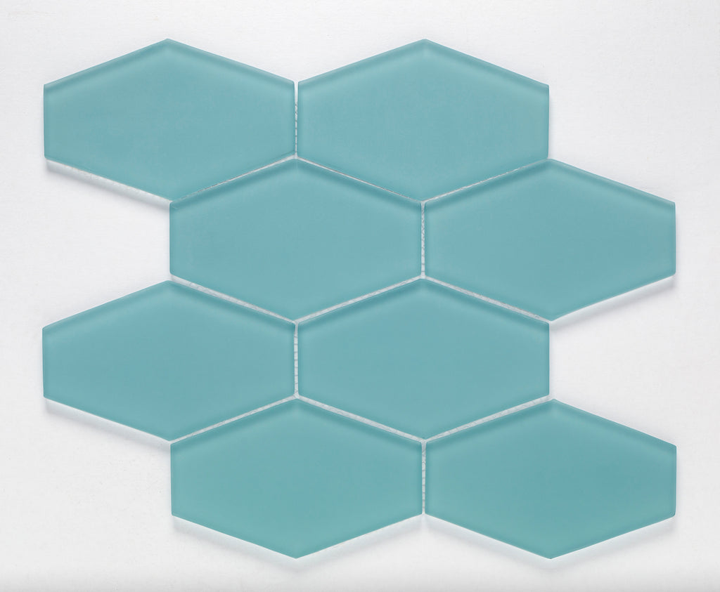 AZURE, ESSENTIALS ELONGATED HEX - Island, Glass Series
