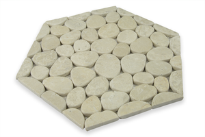 BEIGE MARBLE, HONEYCOMB COBBLES - Island, Random Series (DISCONTINUED - available while stock lasts)