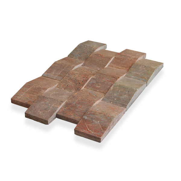 COPPER QUARTZITE, NEW WAVE TILE - Island, Profiles Series