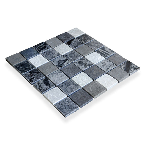 "GREY BLEND, 2"" CLASSIC SQUARES - Island, Mosaic Series"