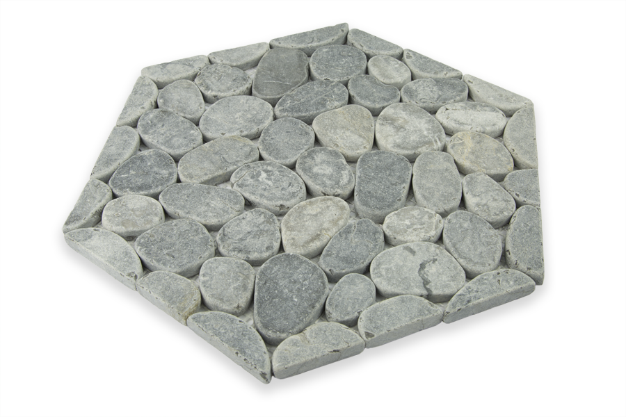 GREY MARBLE, HONEYCOMB COBBLES - Island, Random Series (DISCONTINUED - available while stock lasts)