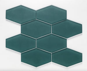 LAGOON, ESSENTIALS ELONGATED HEX - Island, Glass Series