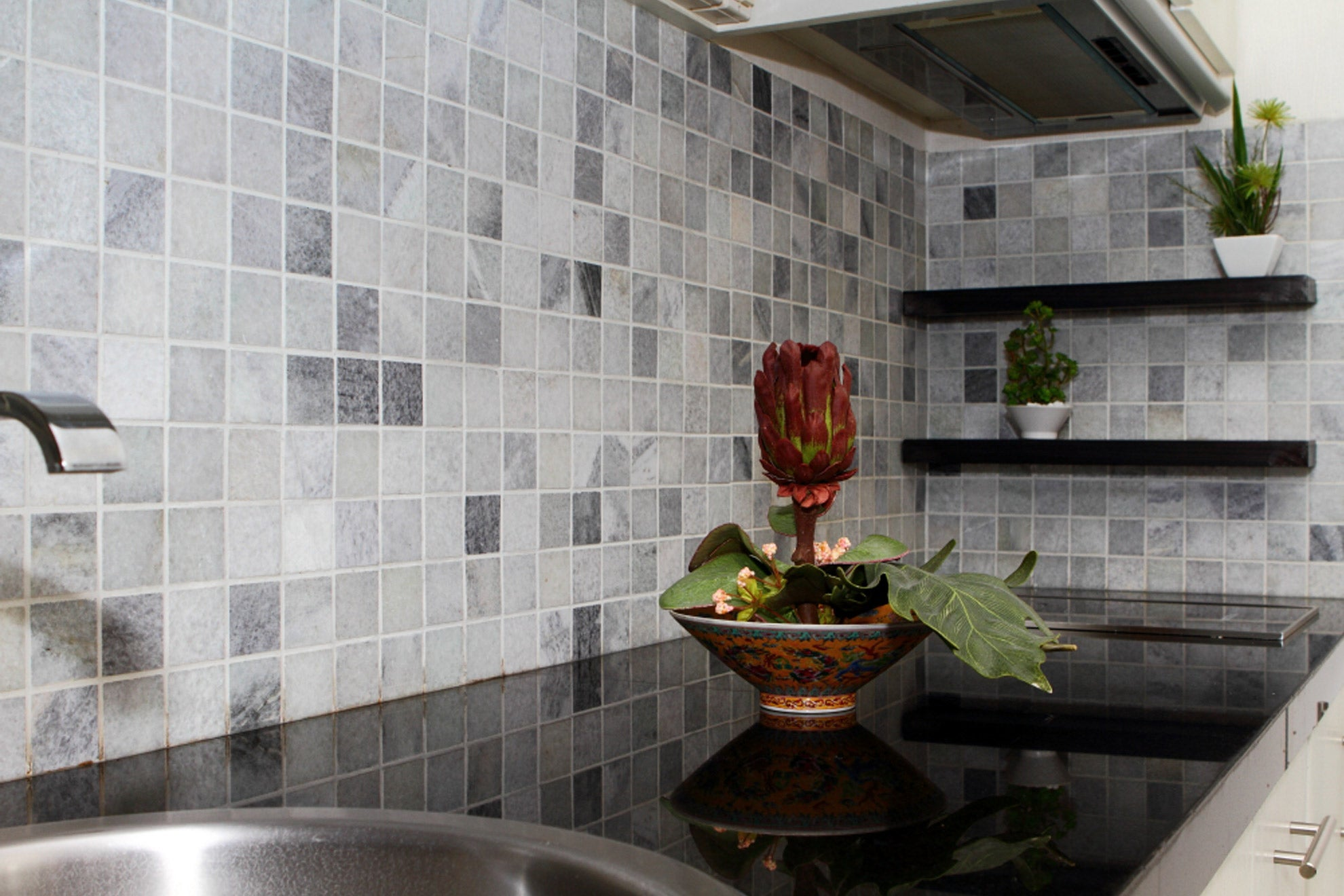 "RICE WHITE MARBLE, 2"" CLASSIC SQUARES - Island, Mosaic Series"