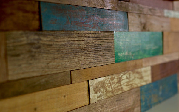 RIMBA Reclaimed Teak Painted, INDO-WOOD - Island, Wood Series