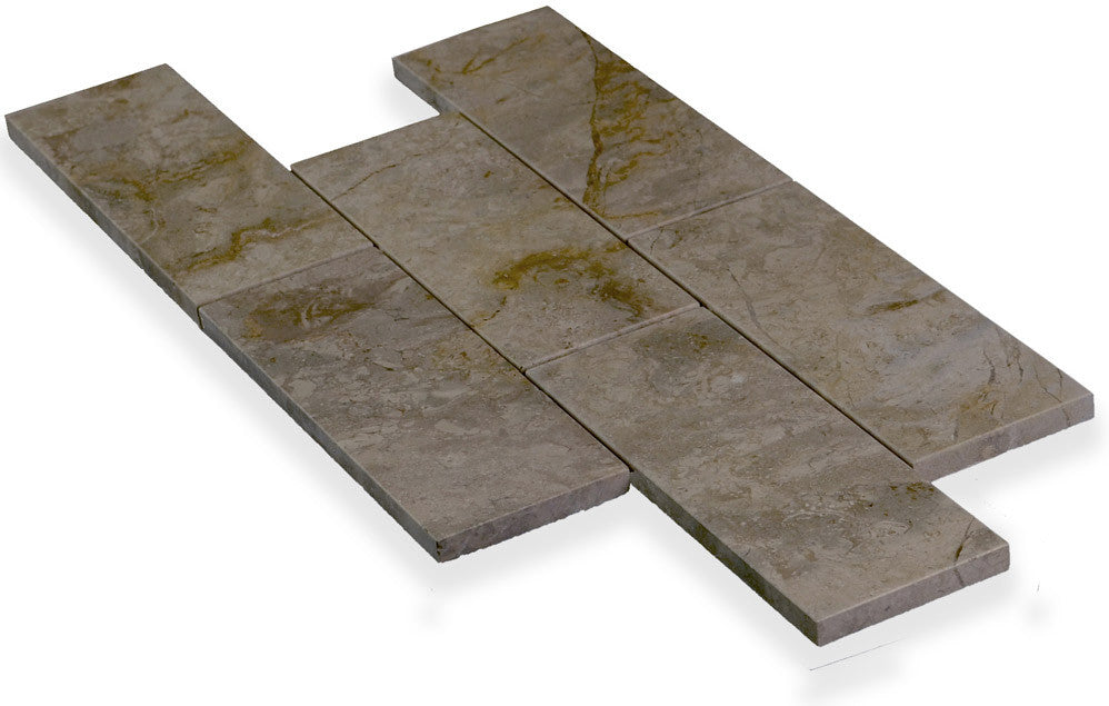 VOLCANO GREY Marble, SUBWAY - Island, Trim Series