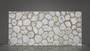 WHITE GOLD Agate Semi-Precious - Slab Series