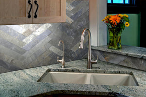 SILVER QUARTZITE, CROSS STRIPS - Island, Cladding Series (DISCONTINUED - available while stock lasts)