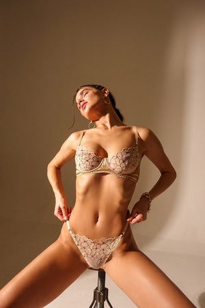 Petra gold lingerie set Angies Showroom
