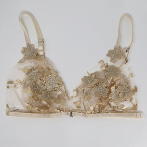 Ornella with 3D flowers beige Lingerie Set