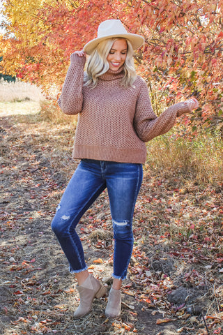 Libby Turtle Neck Sweater Deep Camel