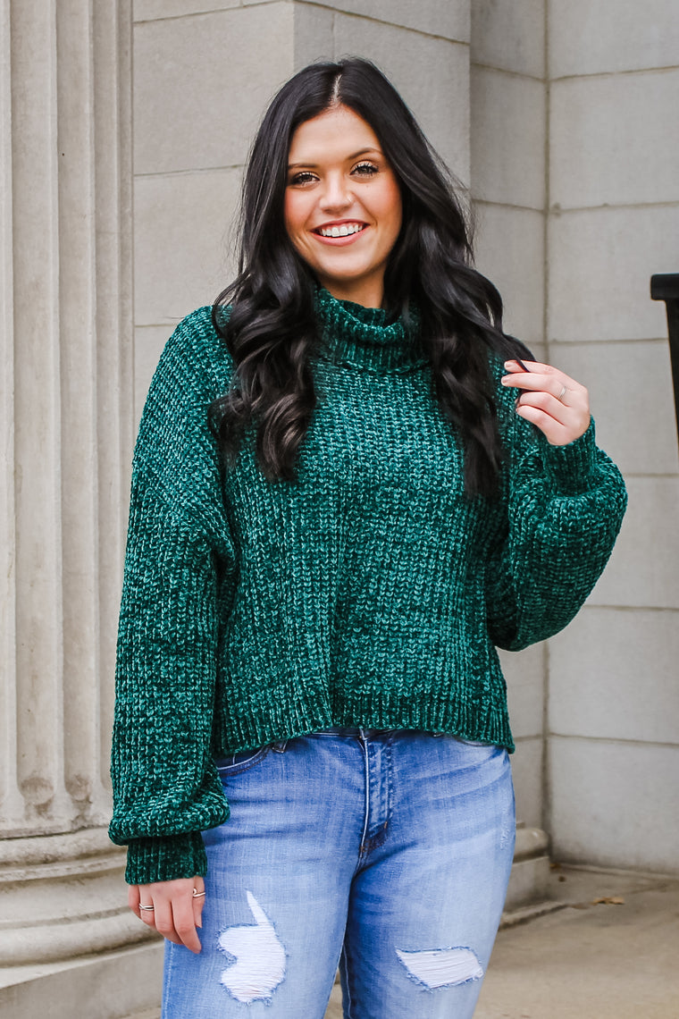 Maria Turtle Neck Sweater Green