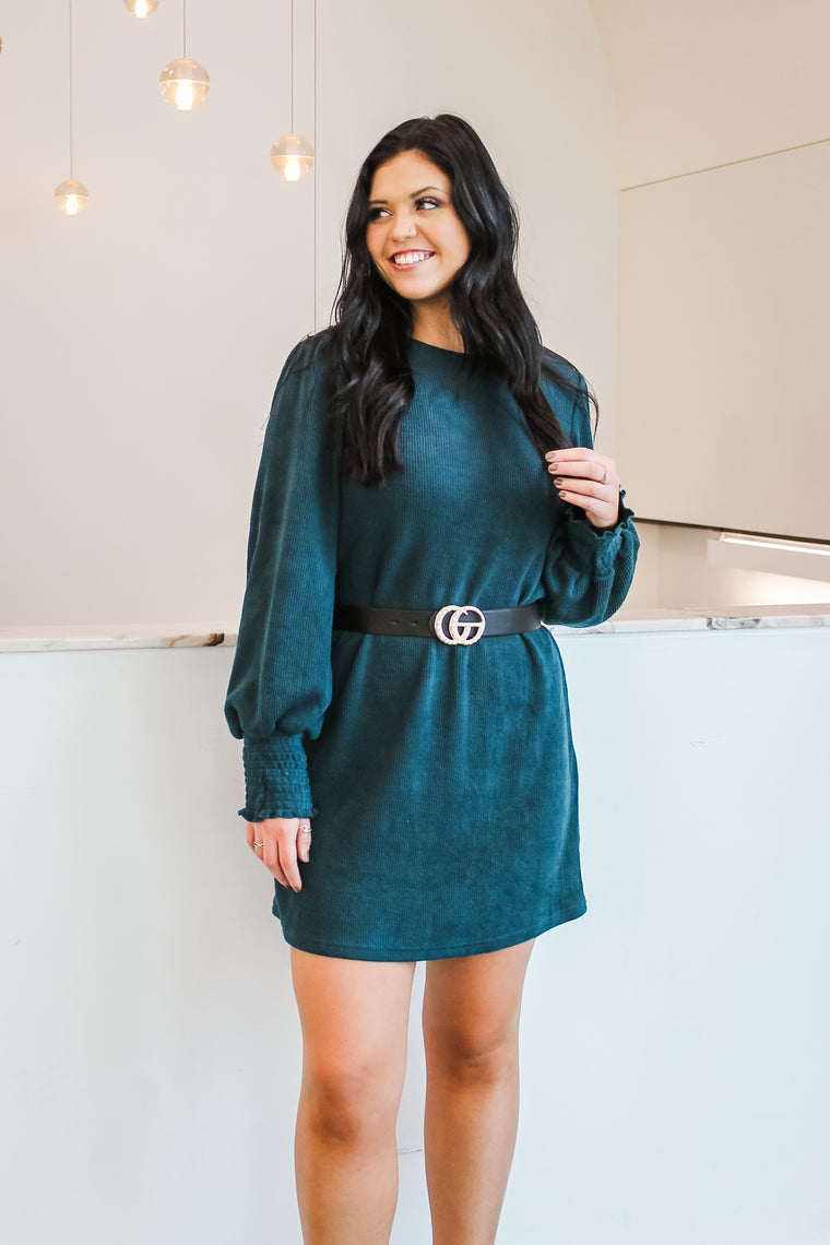 Abby Knit Sweater Dress Sea Green