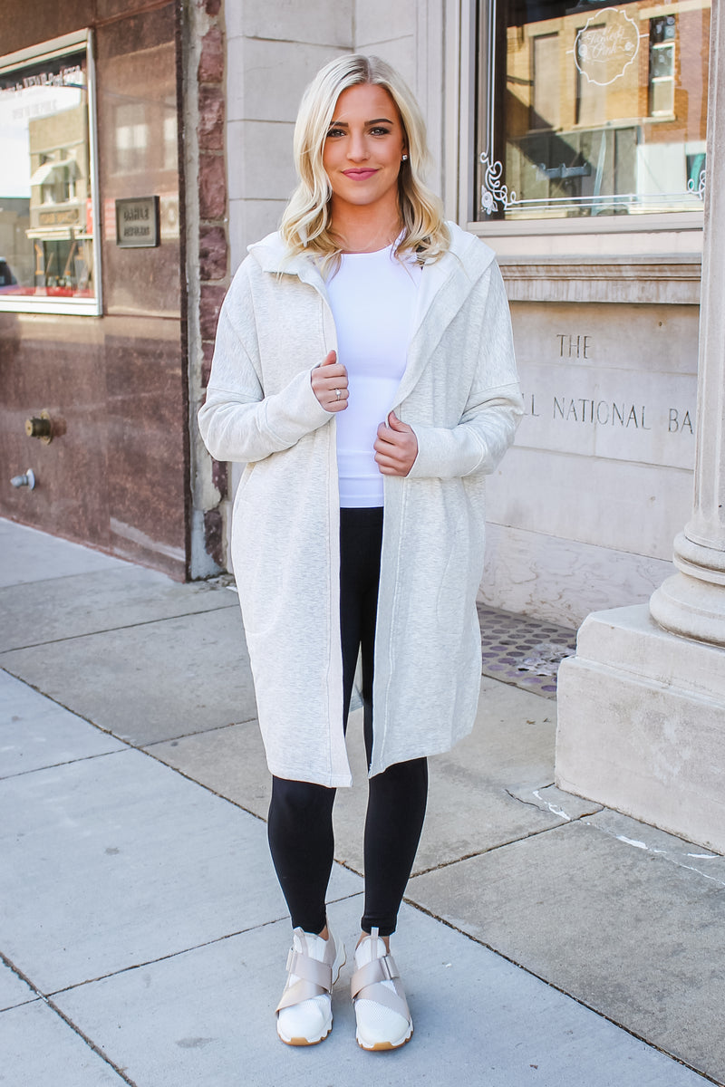Kamy Hooded Cardigan Oatmeal