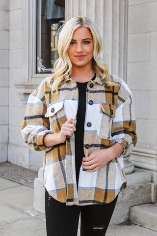 Astra Oversized Flannel Jacket