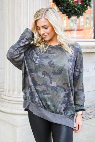 Harlow Thermal Camo Top