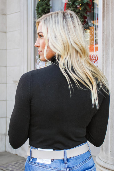 Brady Turtle Neck Top Black