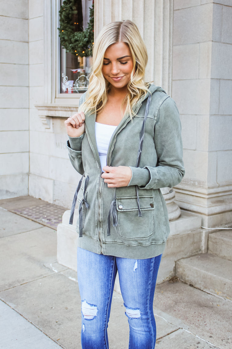 Penelope Cargo Jacket Army Green
