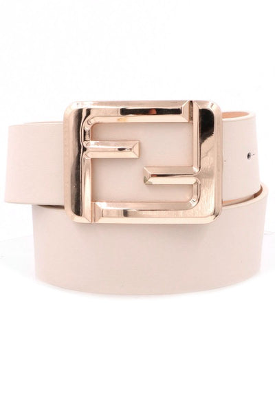 Buckle Faux Leather Belt