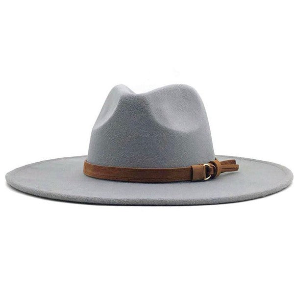 Farrah Panama Hat Light Grey