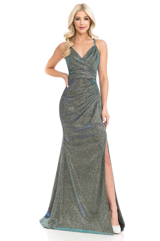5222 Prom Dress Royal/Gold