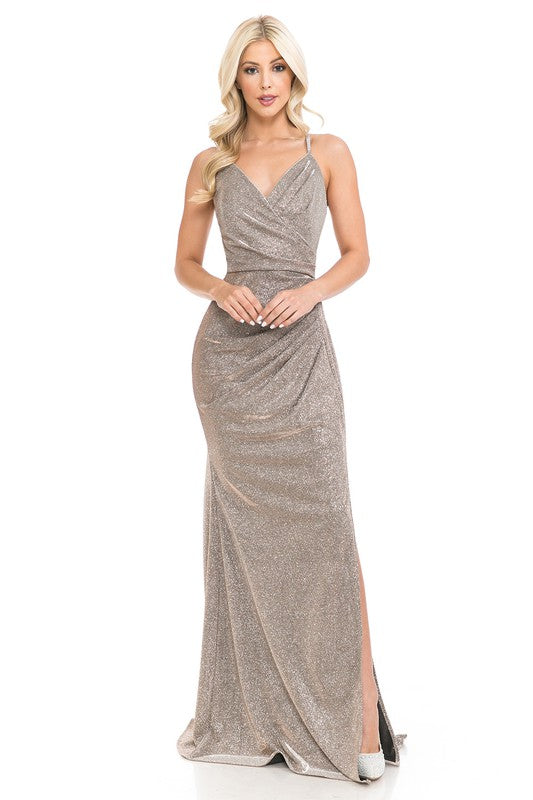 5222 Prom Dress Taupe