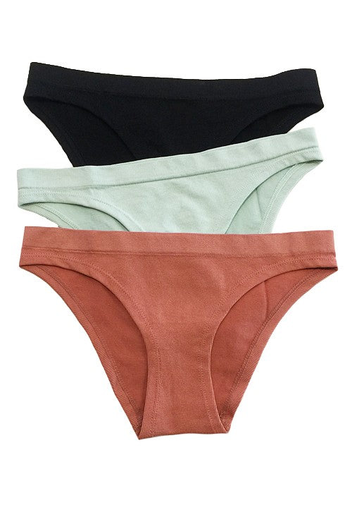 Kelsie 3 Pack Ribbed Underwear