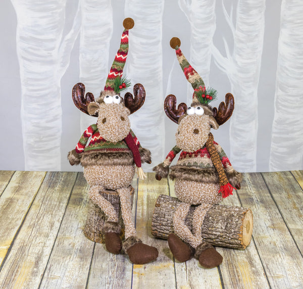 18162 Sweater Moose Dangle Leg